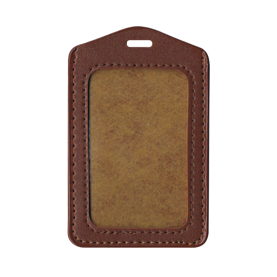 PU Leather Card Holder (Small) - Brown