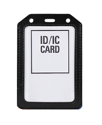 PU Leather Card Holder (Medium) - Black
